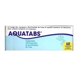 Aquatabs purification de l'eau 60 comprimés