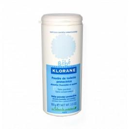 Klorane bébé poudre de toilette protectrice 100g