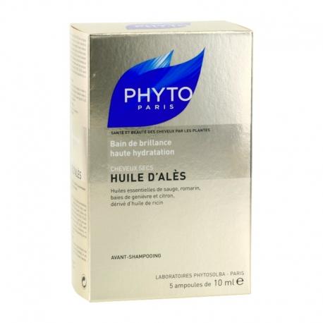 Phyto huile d'alès cheveux secs 5 ampoules