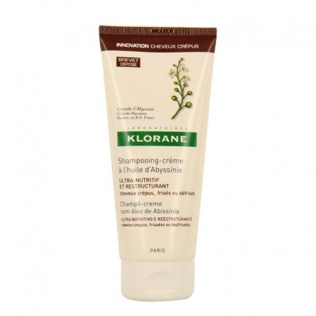 klorane shampooing-crème cheveux crépus à l'huile d'abyssinie 200ml
