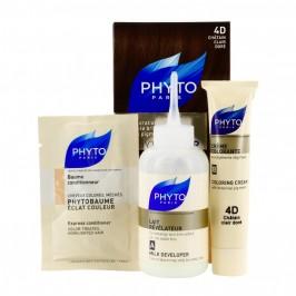 Phyto Color couleur soin 4d chatain clair doré kit