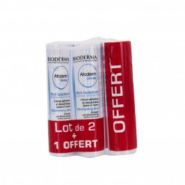 Bioderma atoderm stick lèvres 3 sticks x4g