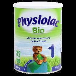 Physiolac lait 1er âge bio 900g